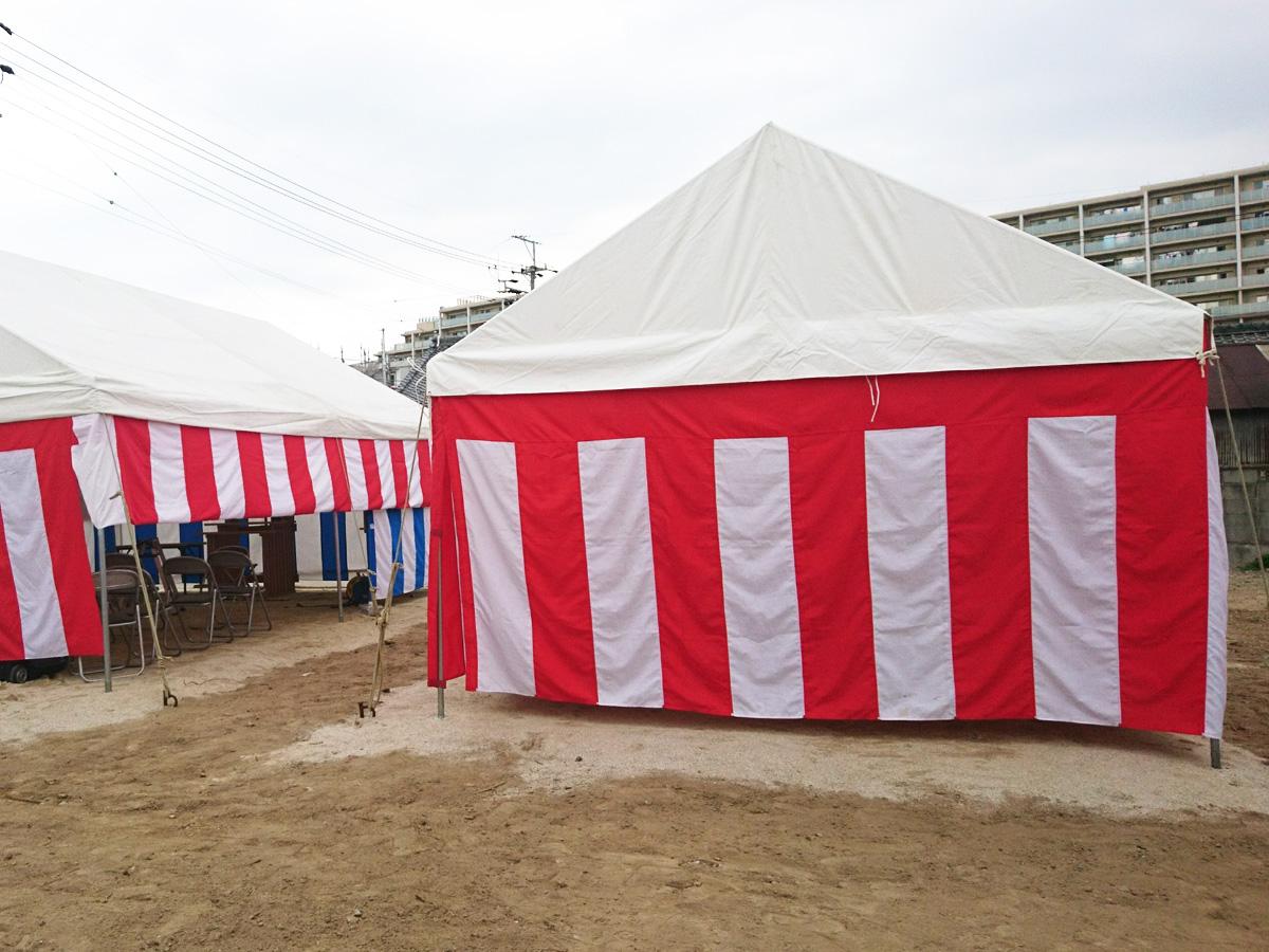 式典でテントを使用