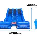 エアー式二連スライダー 寸法図
