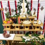 平瓦(ひらが)を使用した祭壇の様子