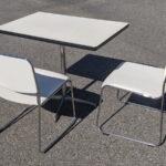 商談セット(角テーブル) 斜めに使用