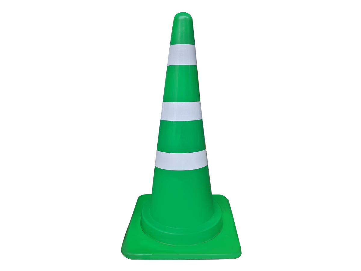 カラーコーン(緑/白)