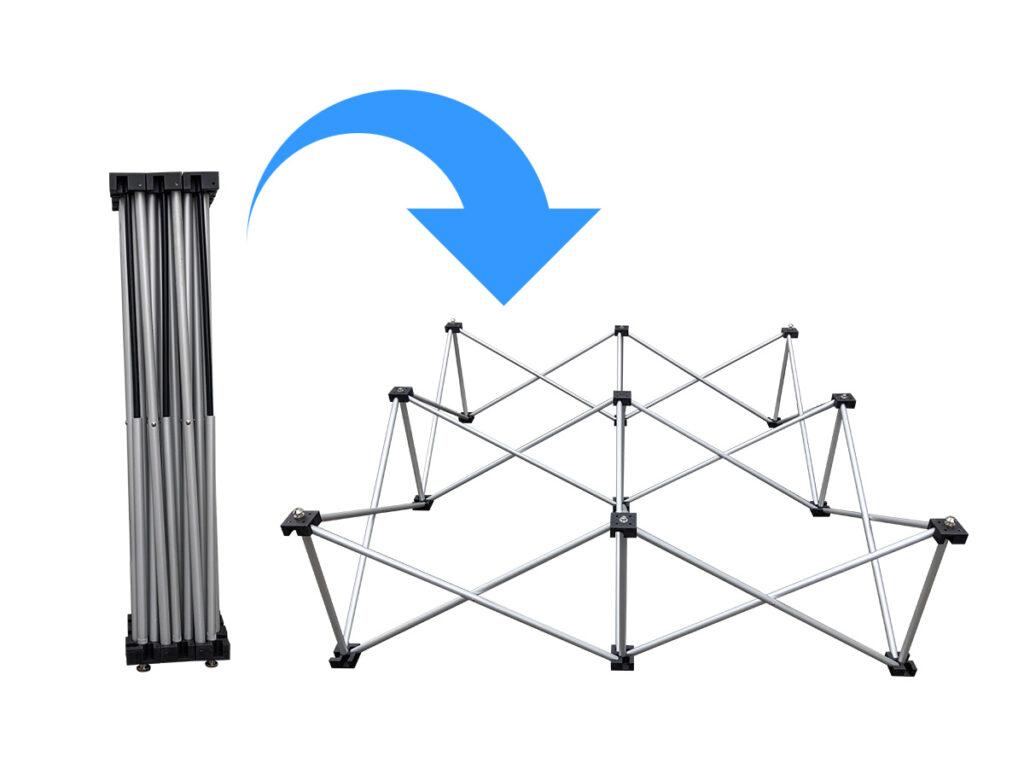 折りたたみステージ(60cm) 設営方法1