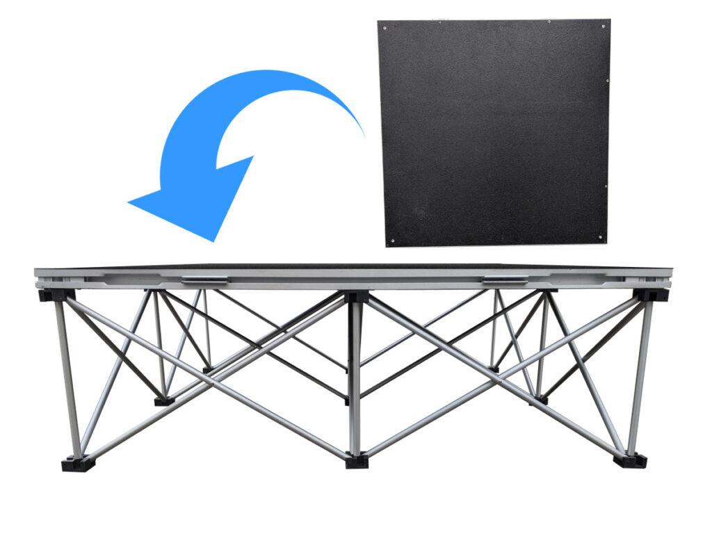 折りたたみステージ(60cm) 設営方法2