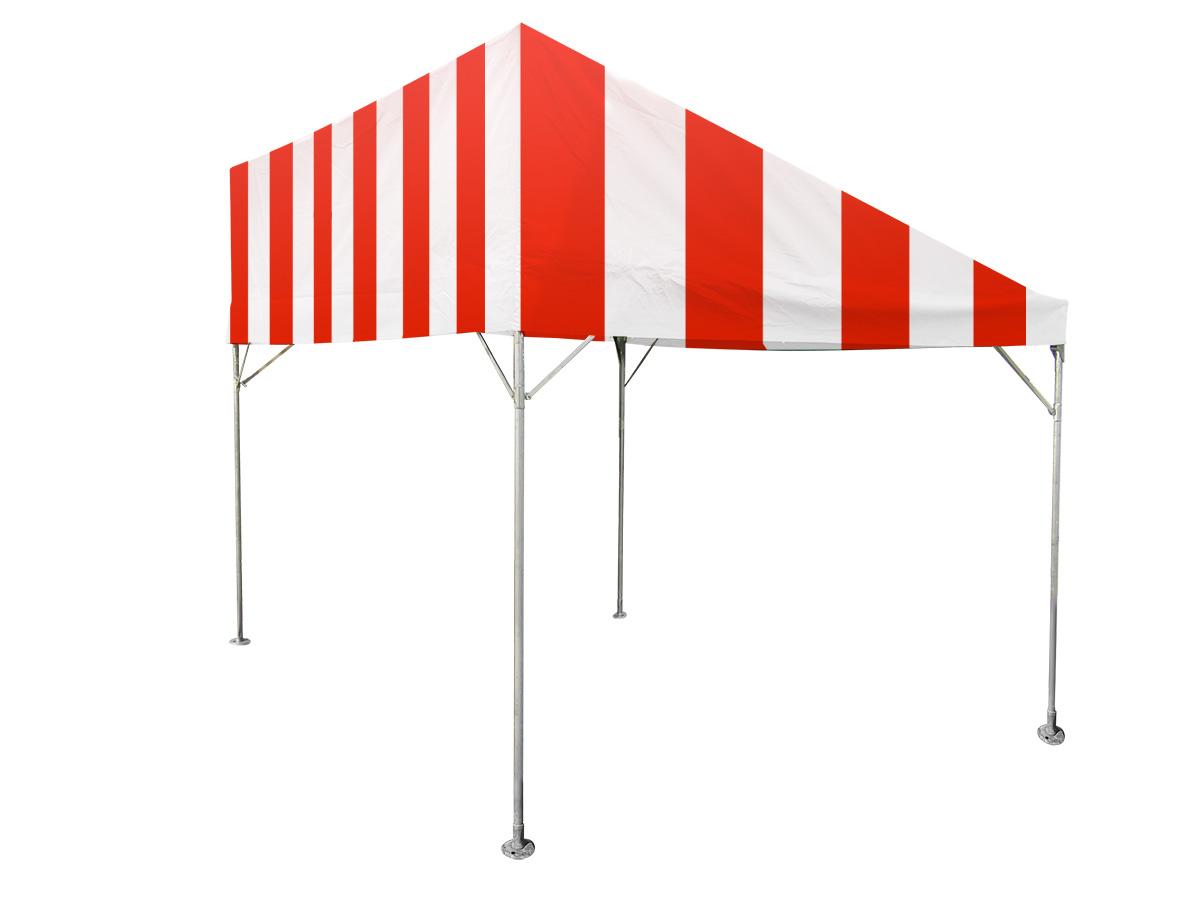 1.5間×2間片流れテント(赤/白) レンタル