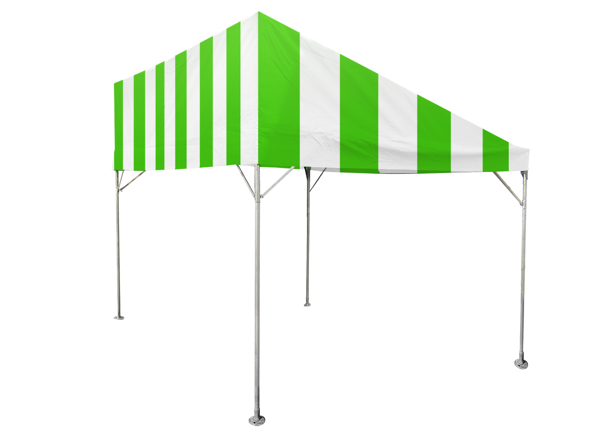 1.5間×2間片流れテント(緑/白) レンタル