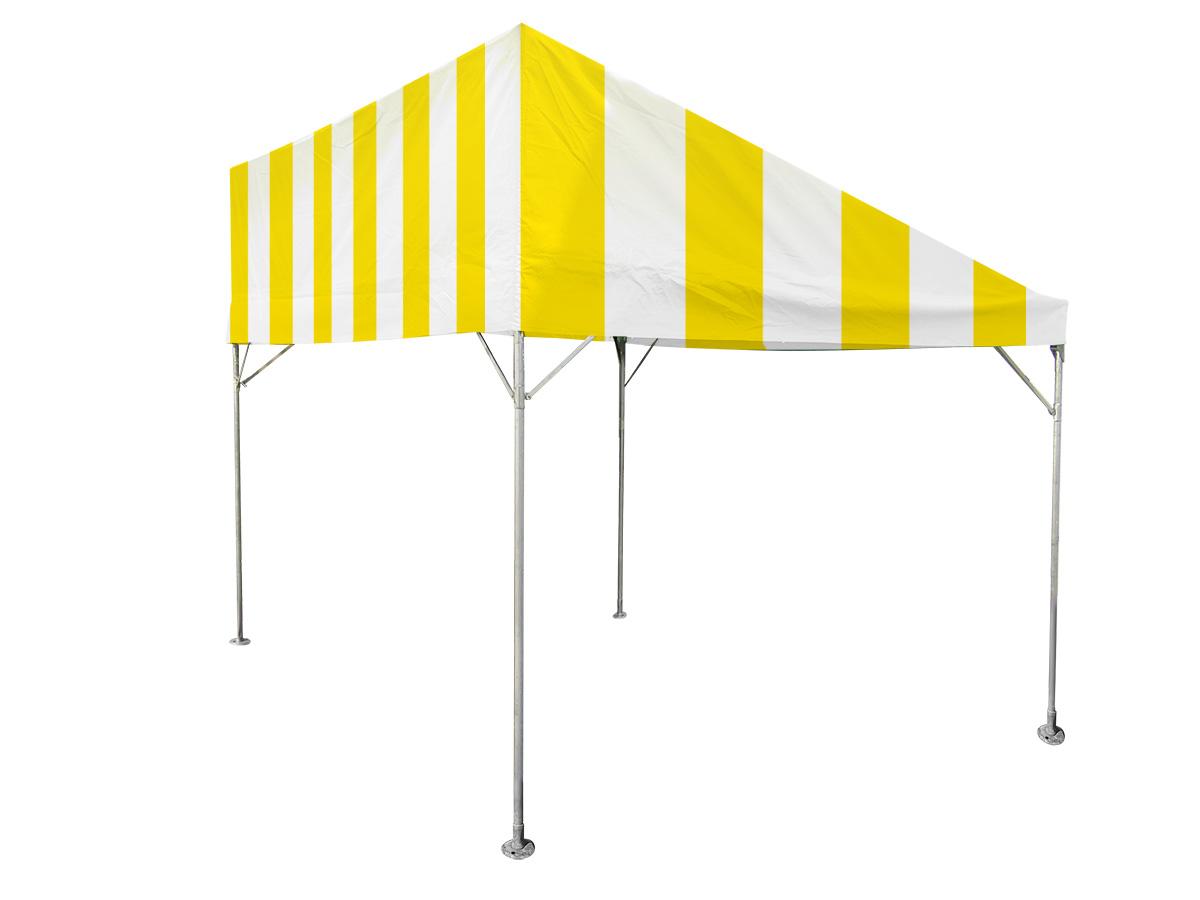 1.5間×2間片流れテント(黄/白) レンタル