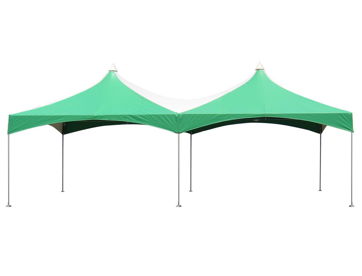 2間×4間ロイヤルテント(緑/白) レンタル
