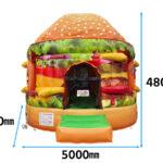 ハンバーガートランポリン 寸法図