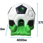 ふわふわサッカーボール 寸法図