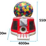 ガムボール型エアートランポリン 寸法図
