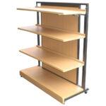 傾斜棚 基本セット 4尺 棚板水平イメージ