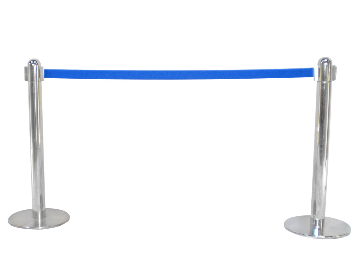 ベルトパーテーション(2方向型・青) レンタル