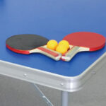 コンパクト卓球台セット ラケットとピンポン球