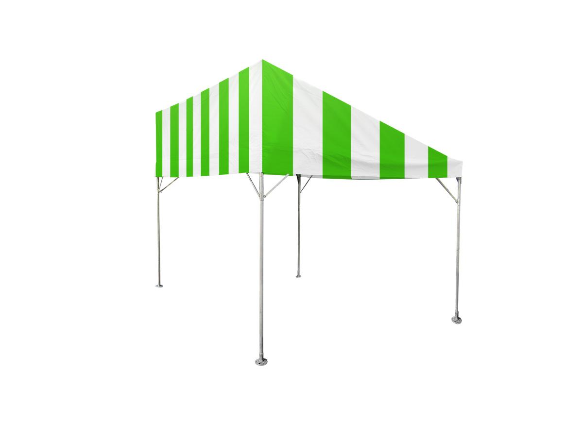 1間×2間片流れテント(緑/白)