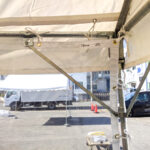 飛沫感染防止用テント横幕(2間・透明) 内側の様子