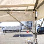 飛沫感染防止用テント横幕(3間・透明) 裏面の様子