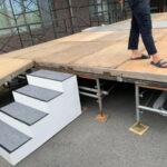イベントステージ用ステップ階段 使用風景