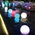 LEDスツール 水上での使用風景