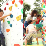 子供用ボルダリング実施セット 実施風景