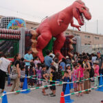 恐竜エアハウス 実演風景