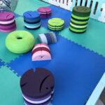 揺れる遊具つきキッズスペース 遊具