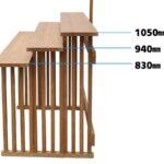 祭壇(三段案) 棚板の高さ