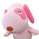 エアー式犬着ぐるみ(ピンク) 顔アップ