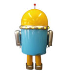 可愛いロボット着ぐるみ 背面