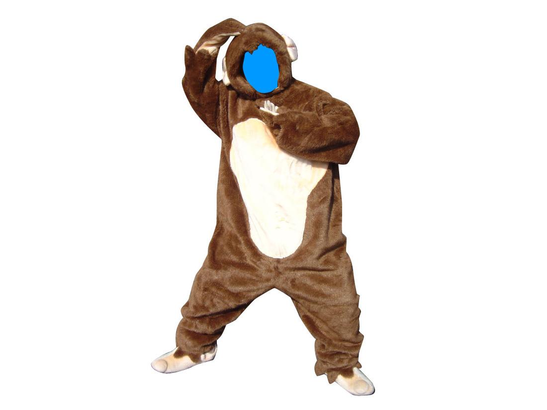 顔出し猿スーツ
