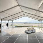 システムテント 設営風景3