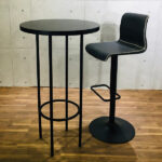 円形ブラックハイテーブル 組み合わせ例