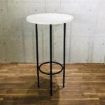 円形ホワイトハイテーブル イメージ
